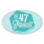 The 47 Percent Sticker (Oval)