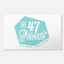 The 47 Percent Sticker (Rectangle)