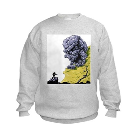 Disc Golf SKULL CAVE Kids Sweatshirt