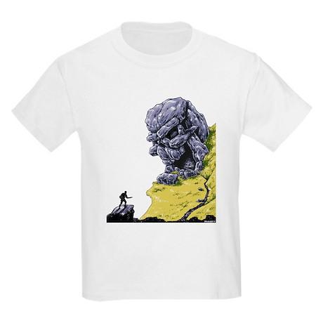 Disc Golf SKULL CAVE Kids Light T-Shirt