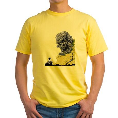 Disc Golf SKULL CAVE Yellow T-Shirt