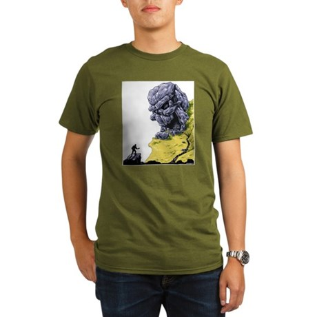 Disc Golf SKULL CAVE Organic Men's T-Shirt (dark)