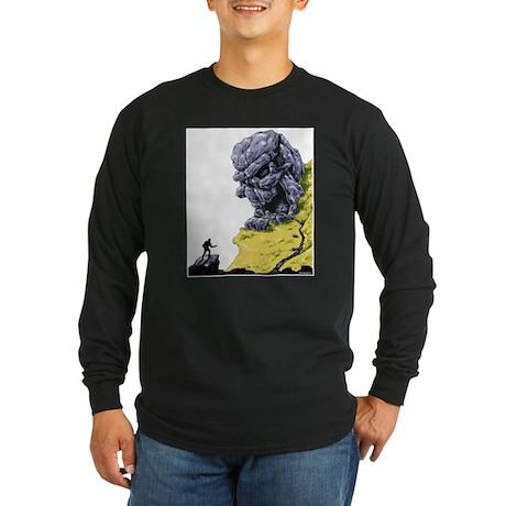Disc Golf SKULL CAVE Long Sleeve Dark T-Shirt