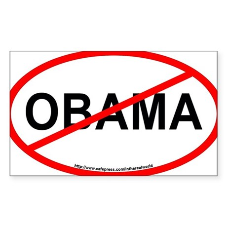 NOBAMA Oval Bumper Sticker for Sale Sticker