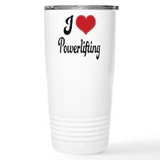 I Love Powerlifting Travel Mug