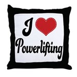I Love Powerlifting Throw Pillow