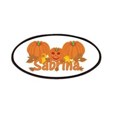 Halloween Pumpkin Sabrina Patches