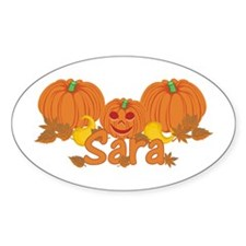 Halloween Pumpkin Sara Decal