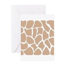 Beige Giraffe Print Pattern. Greeting Card