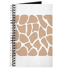 Beige Giraffe Print Pattern. Journal