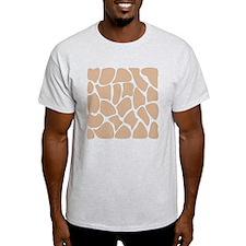 Beige Giraffe Print Pattern. T-Shirt
