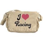 I Love Racing Messenger Bag