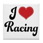 I Love Racing Tile Coaster