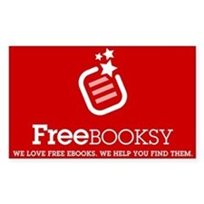 Red Freebooksy Logo Rectangle Decal