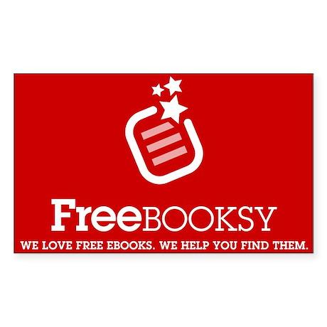 Red Freebooksy Logo Rectangle Sticker