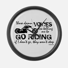 Voices Make Me Ride Large Wall Clock