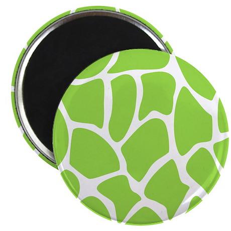 Green Giraffe Print Pattern. Magnet
