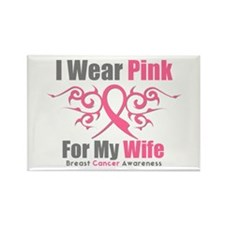 Breast Cancer Ribbon Wife Rectangle Magnet