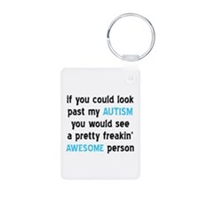 Look Past My Autism Keychains