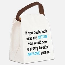 Look Past My Autism Canvas Lunch Bag