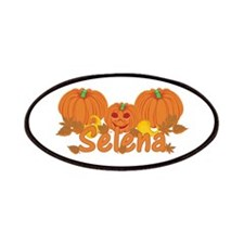Halloween Pumpkin Selena Patches
