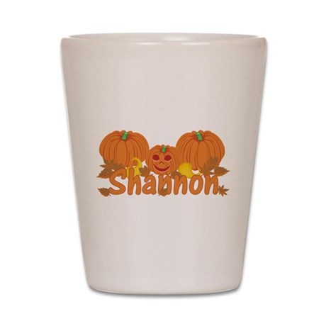 Halloween Pumpkin Shannon Shot Glass