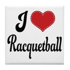 I Love Racquetball Tile Coaster
