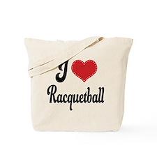 I Love Racquetball Tote Bag