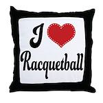 I Love Racquetball Throw Pillow