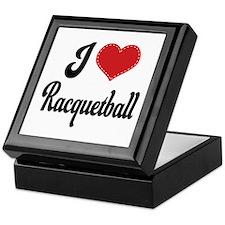 I Love Racquetball Keepsake Box