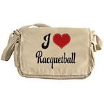 I Love Racquetball Messenger Bag