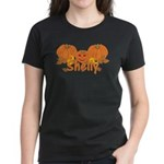 Halloween Pumpkin Shelly Women's Dark T-Shirt