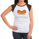 Halloween Pumpkin Shelly Women's Cap Sleeve T-Shir