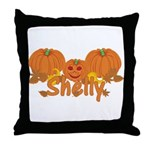 Halloween Pumpkin Shelly Throw Pillow