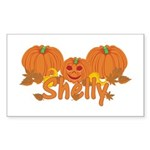 Halloween Pumpkin Shelly Sticker (Rectangle)