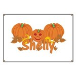 Halloween Pumpkin Shelly Banner