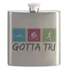 Gotta Tri (Triathlon) Flask