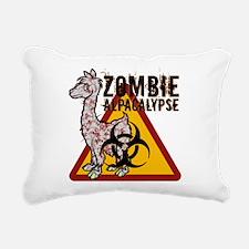 Zombie Alpacalypse Rectangular Canvas Pillow