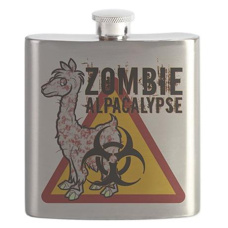 Zombie Alpacalypse Flask