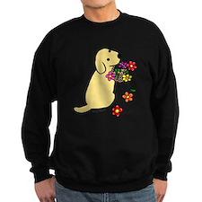 Yellow Lab Puppy Flower Basket Sweatshirt