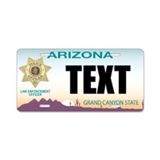 Arizona Police Custom License Plate