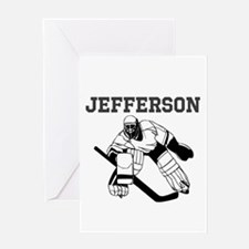 Personalized Hockey Greeting Card