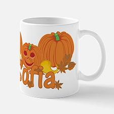 Halloween Pumpkin Sofia Mug