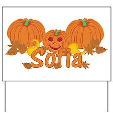 Halloween Pumpkin Sofia Yard Sign