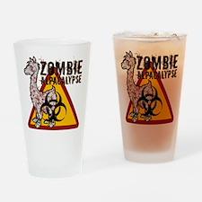 Zombie Alpacalypse Drinking Glass