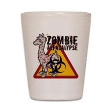 Zombie Alpacalypse Shot Glass