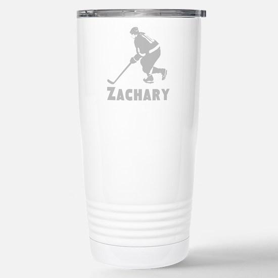 Personalized Hockey Stainless Steel Travel Mug