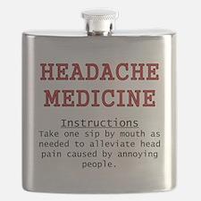 Headache Medicine Flask