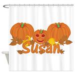 Halloween Pumpkin Susan Shower Curtain