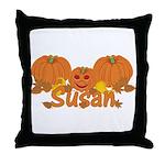Halloween Pumpkin Susan Throw Pillow